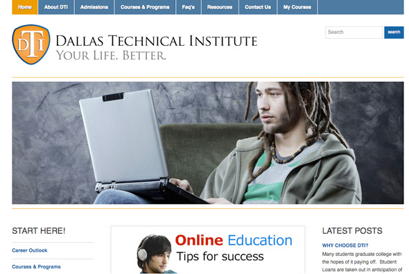 Dallas Technical Institute Online School Project